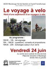 Maubeuge: soirée voyage à vélo