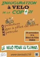 Inauguration à vélo de la COP21