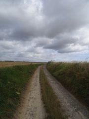 Chemin entre Crépy-en-Valois et le sud de Morcourt